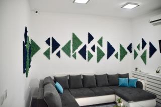triunghiuri din licheni decorativi stabilizati